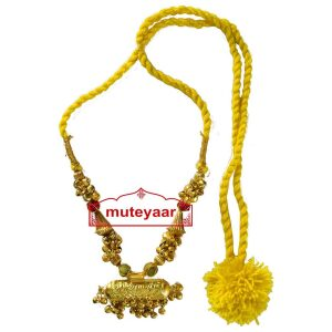 BIG JUGNI traditional golden necklace haar for Giddha Bhangra