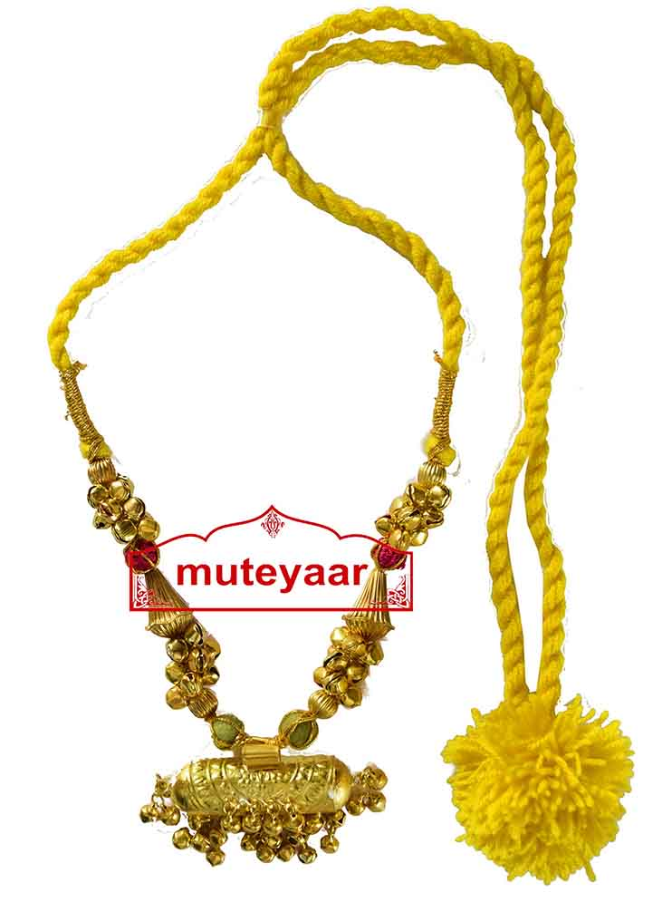 BIG JUGNI traditional golden necklace haar for Giddha Bhangra 1