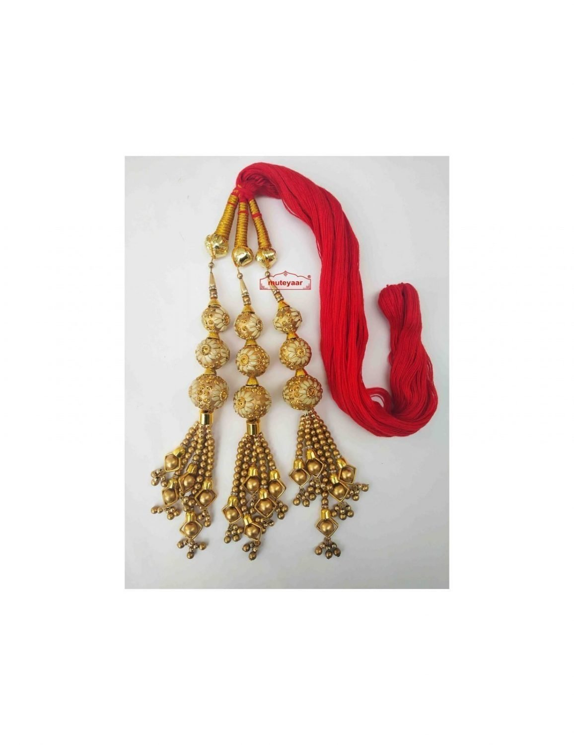 Balls Paranda Parandi Tassles with Red Braid 1