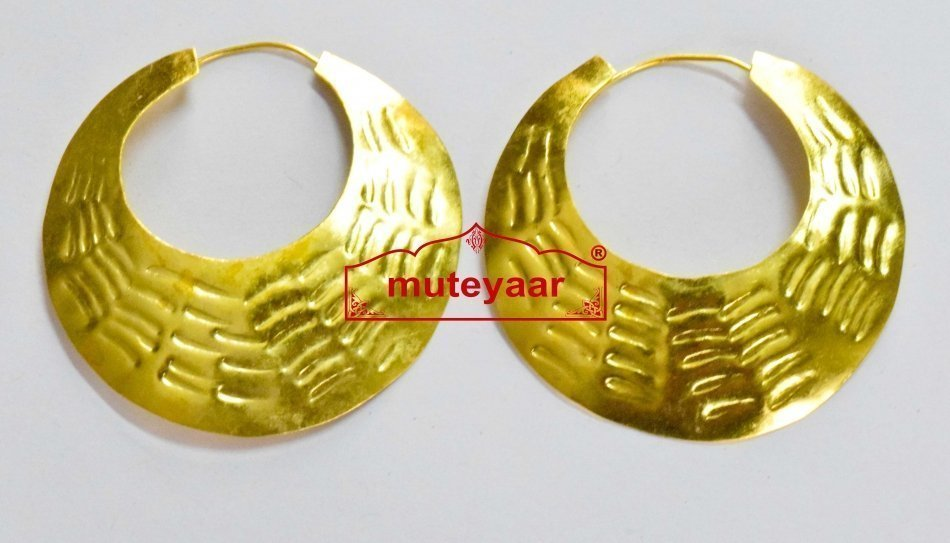 Fish scales design Bali Traditional earrings set for Men for bhangra performance 1