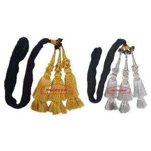 Pack of 2 – GOLDEN & SILVER Traditional Punjabi Paranda tassles Hair Braid
