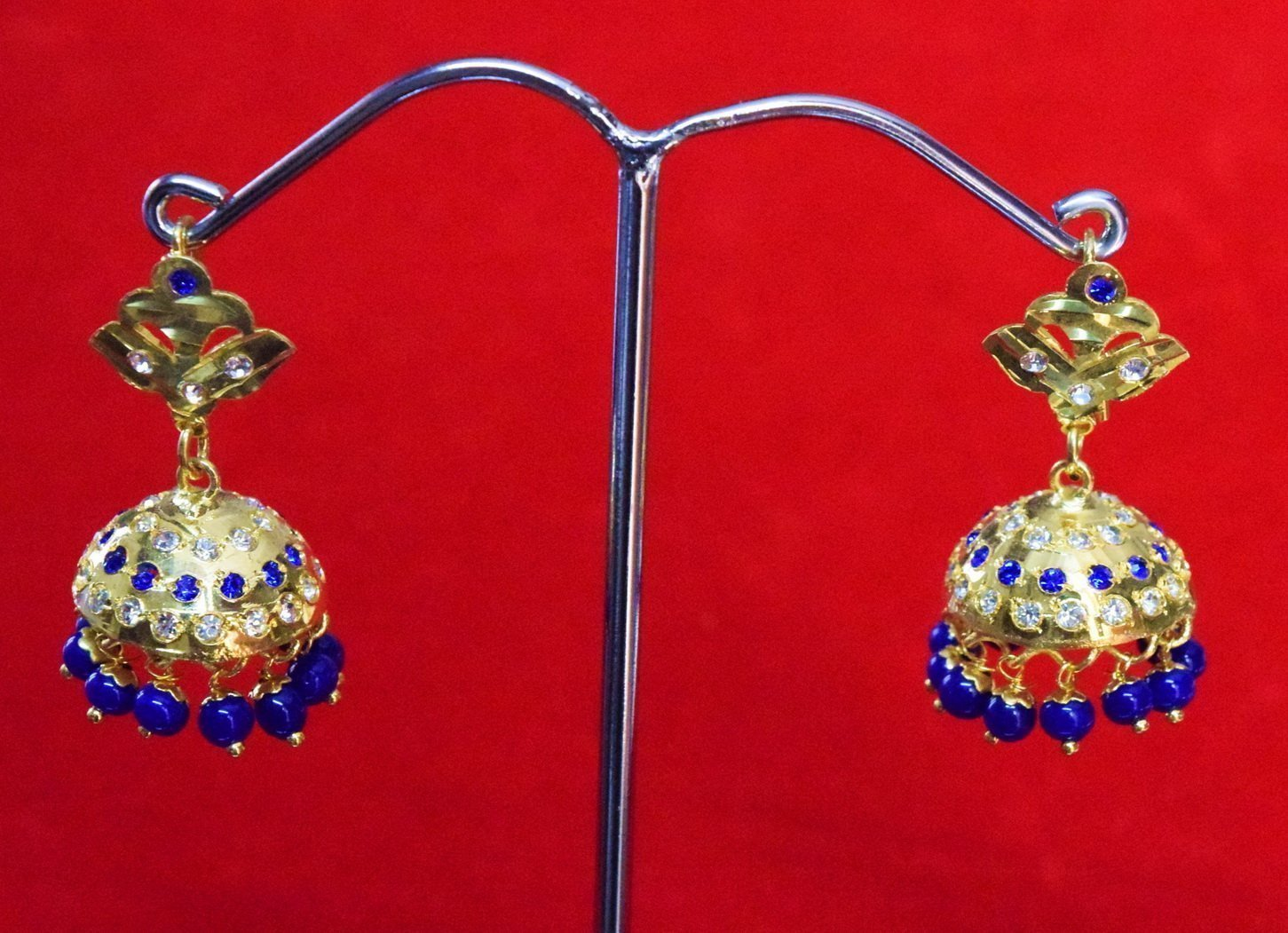 Jadau Gold Polished Traditional Punjabi Jhumki Earrings set J0365