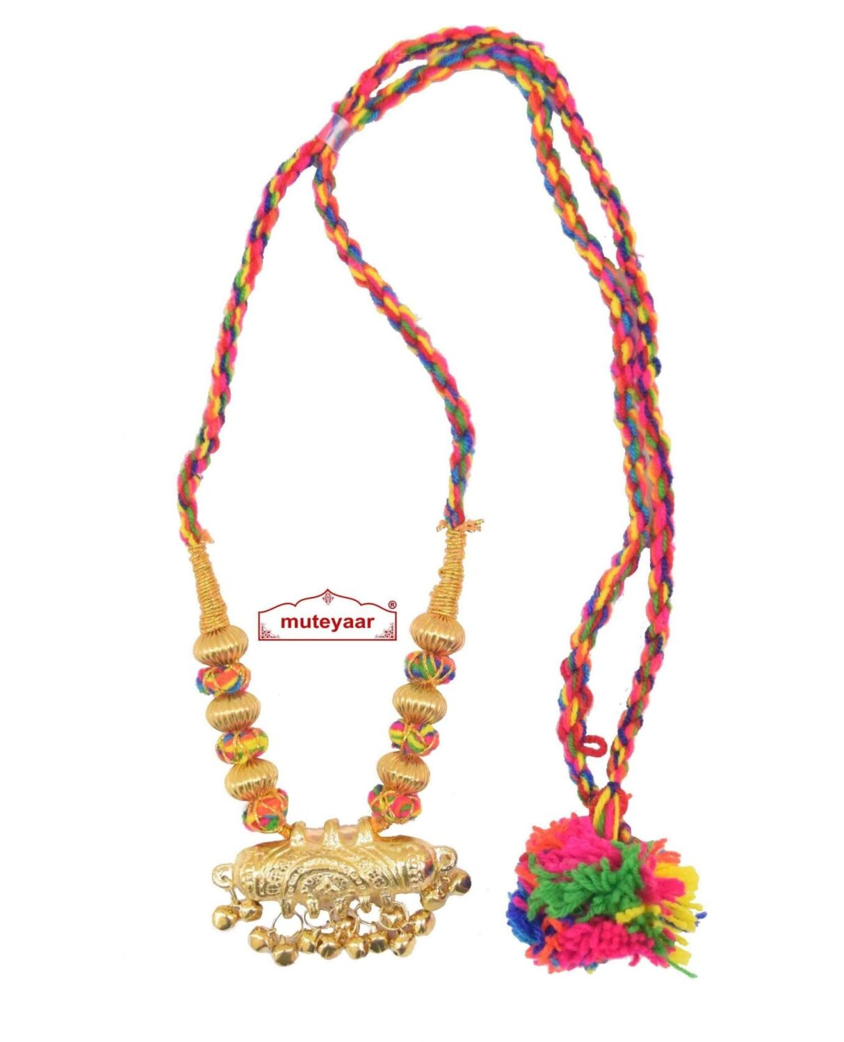 Multicolour Jugni Capsule Haar Necklace for Punjabi Bhangra Giddha