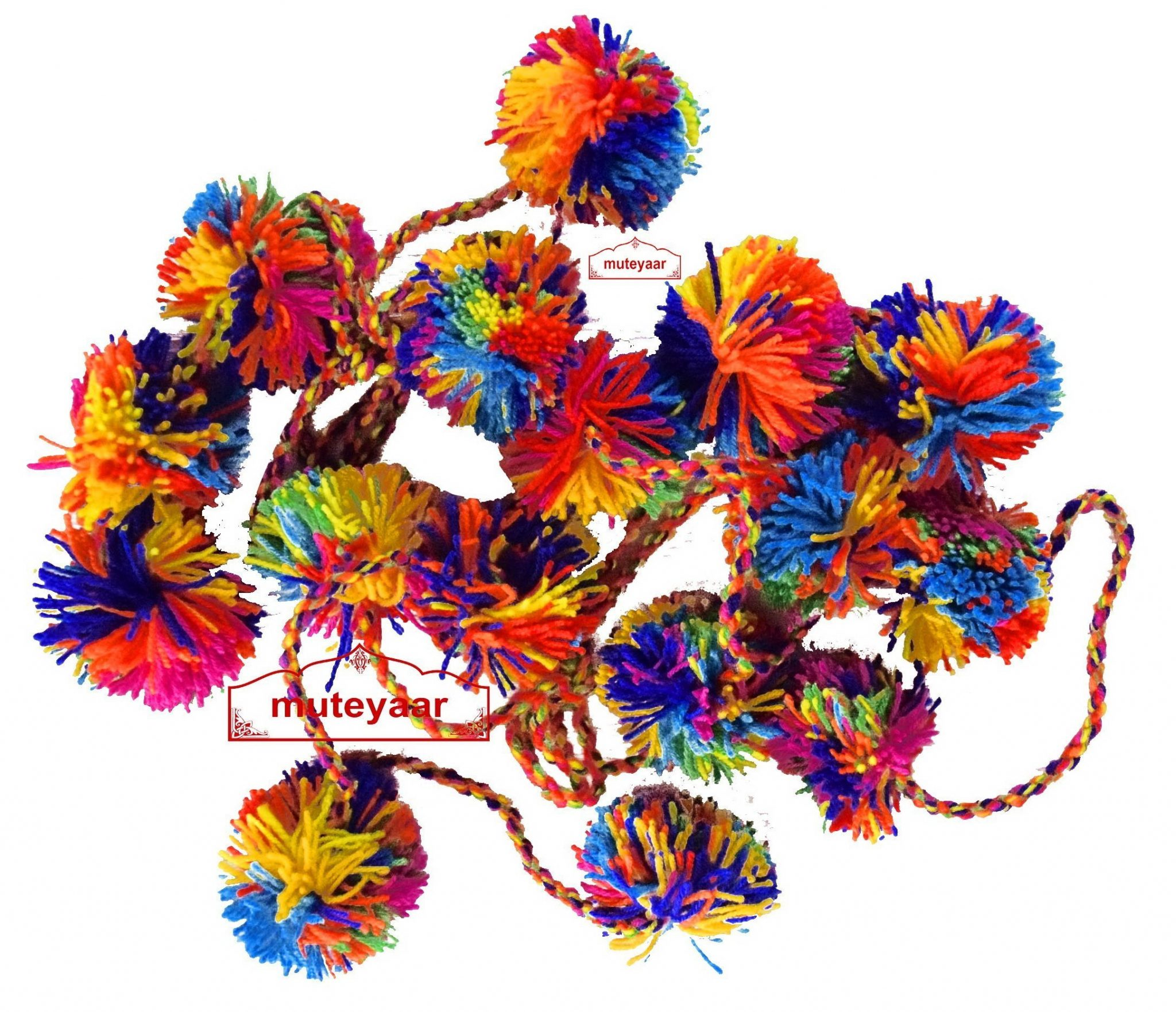Pom Pom Shoulder Phumans Accessory for Bhangra Giddha Costume Dress 1