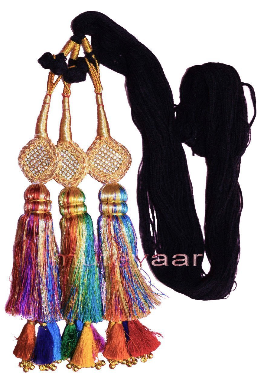 Traditional Punjabi Ethnic Colorful Paranda parandi with Zircons embelishment