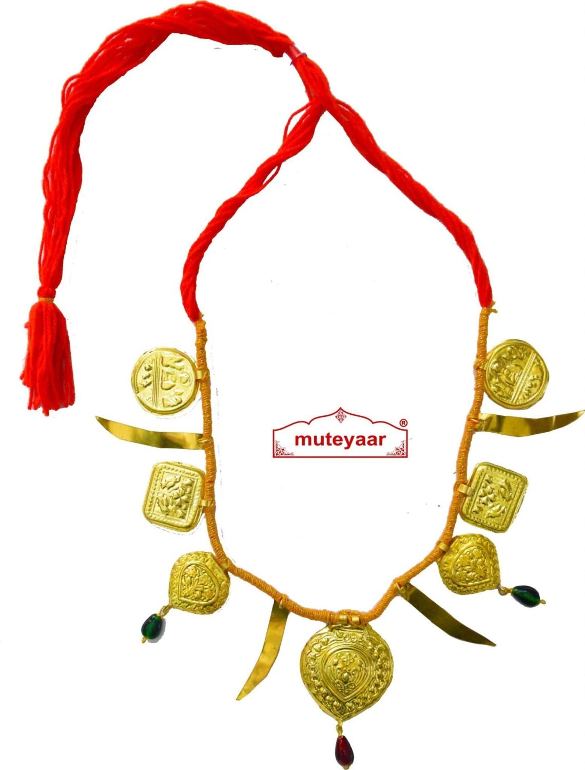 Talwar Taweet traditional golden necklace haar for Giddha Bhangra
