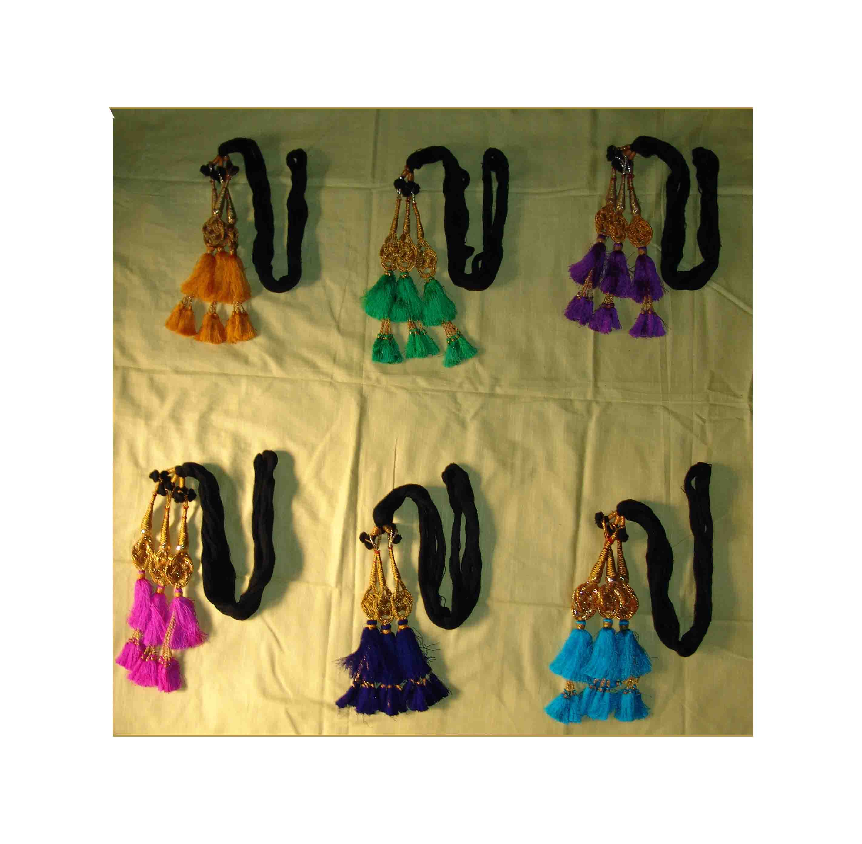 Lot of 6 Jalebi ethnic Colorful Paranda parandi to match ur suit 1