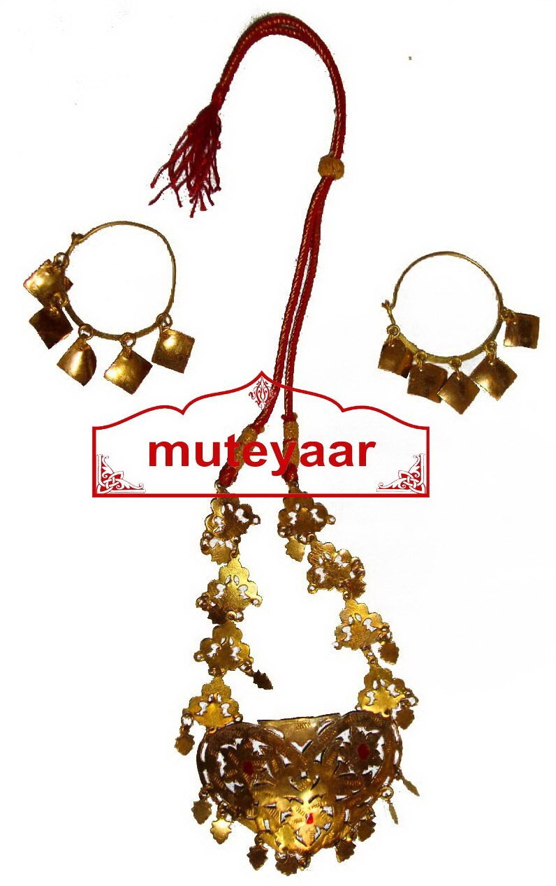 Ranihaar Bhangra Giddha Jewelery set of Neclace + Earrrings