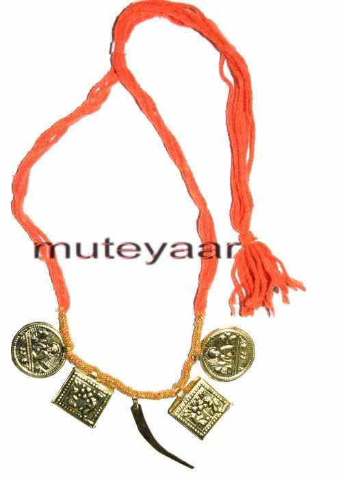 Singh Taweet traditional golden necklace haar for Giddha Bhangra