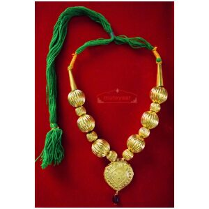 Golden Kaintha Necklace for Bhangra Giddha | Costume Jewelry