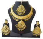 Hasli Set Necklace Earrings Tikka Punjabi Jewellery J0498