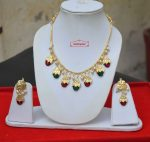 Red Green Traditional Punjabi Jewellery Dakh Set J0499