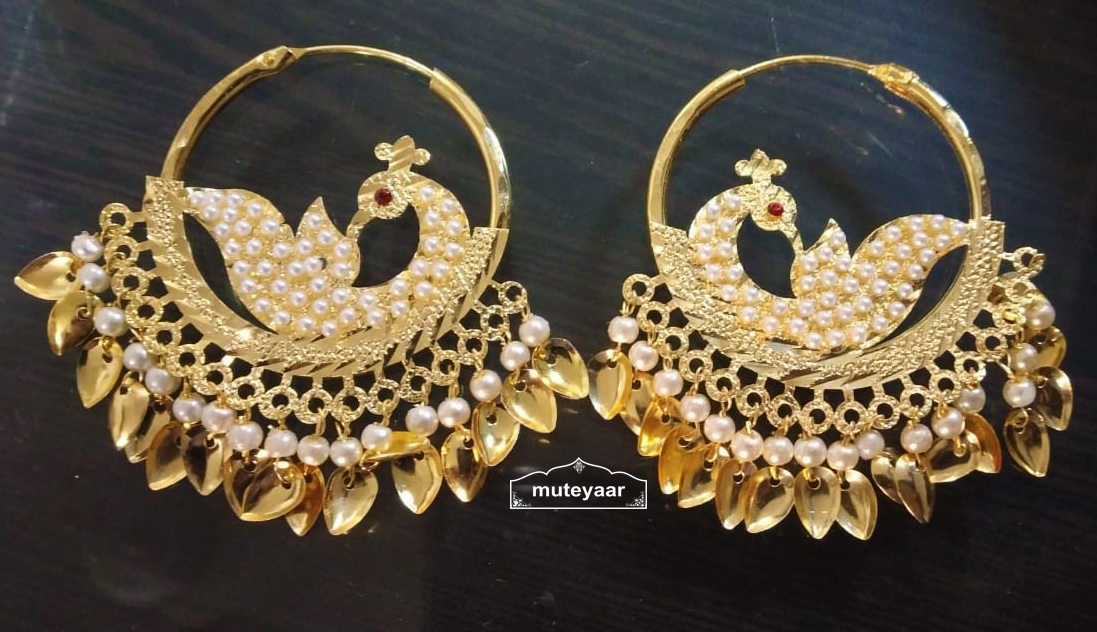 Jadau Earrings Punjabi Morni Bali Imitation Jewellery J0503 1