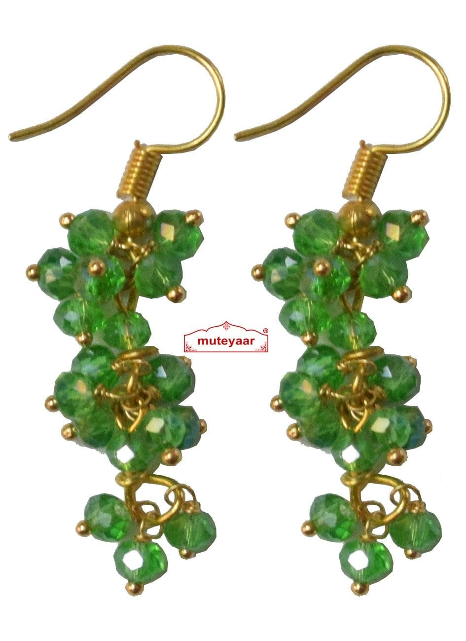 3 Step Crystal Earrings Jhumki - All colours available 1