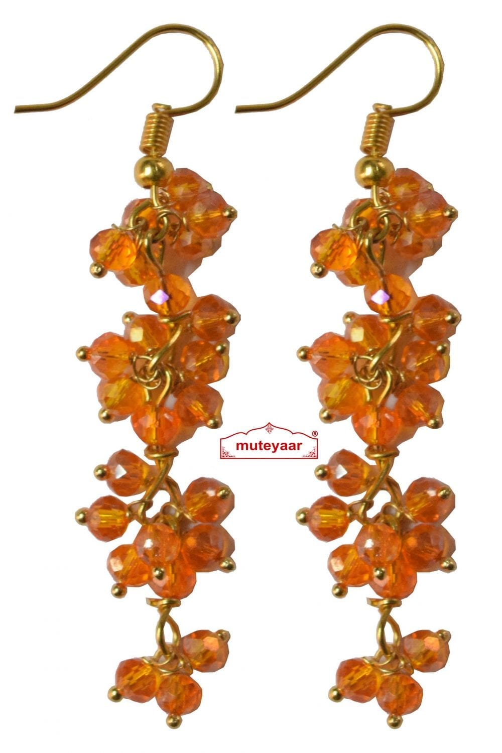 4 Step Crystal Earrings Jhumki - All colours available 1
