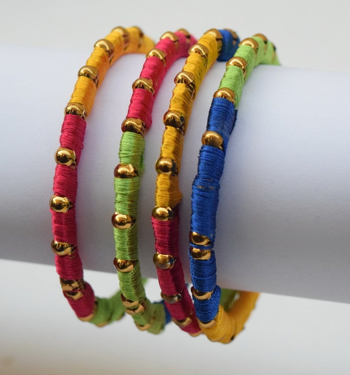 Multicolour designer bangles set of 4 pieces BN157 2