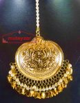 24 Ct. Gold Plated Big Size Traditional Punjabi Tikka Maang Teeka J0182