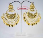 Hand Made Gold Plated Morni Design Traditional Punjabi Earrings Jhumka J0200