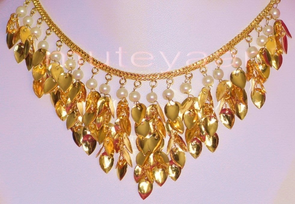 24 Ct. Gold Plated Traditional Punjabi Necklace Earrings jewellery set J0207 2