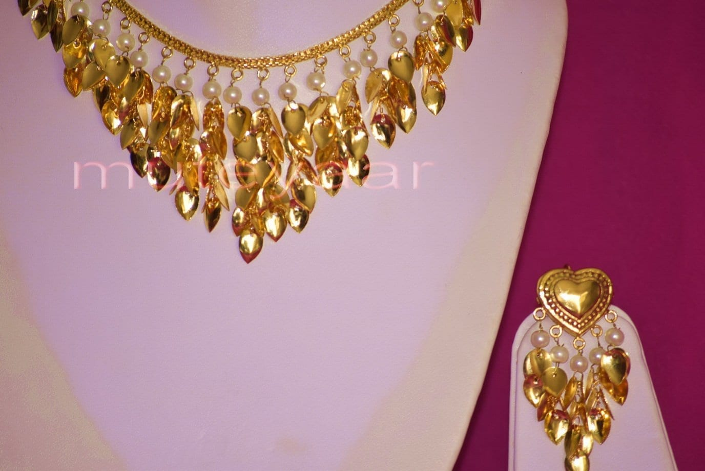 24 Ct. Gold Plated Traditional Punjabi Necklace Earrings jewellery set J0207 4