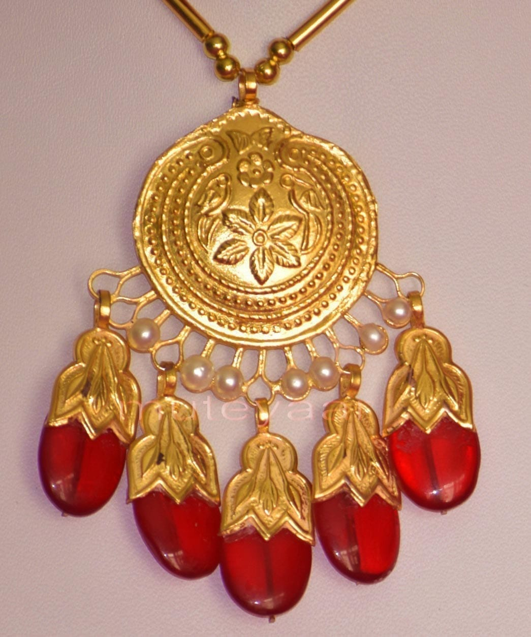 24 Ct. Gold Plated Traditional Punjabi Full Dakh Set jewellery with Tikka  J0209 3
