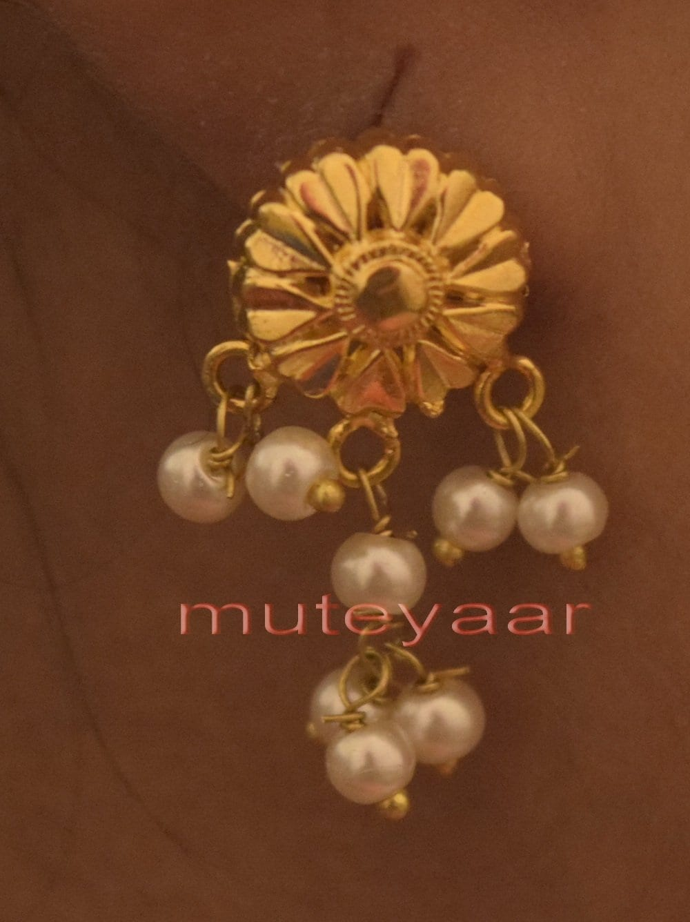 Hand Made Gold Plated Punjabi Traditional Jewellery Earrings Tops J0217 2