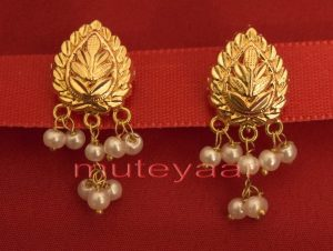 Hand Made Gold Plated Punjabi Traditional Jewellery Earrings Tops J0218