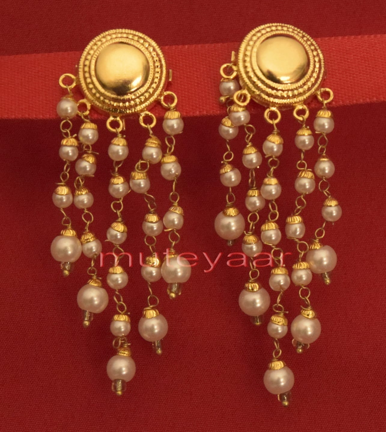 Hand Made Gold Plated Punjabi Traditional Jewellery Earrings Tops J0219 1