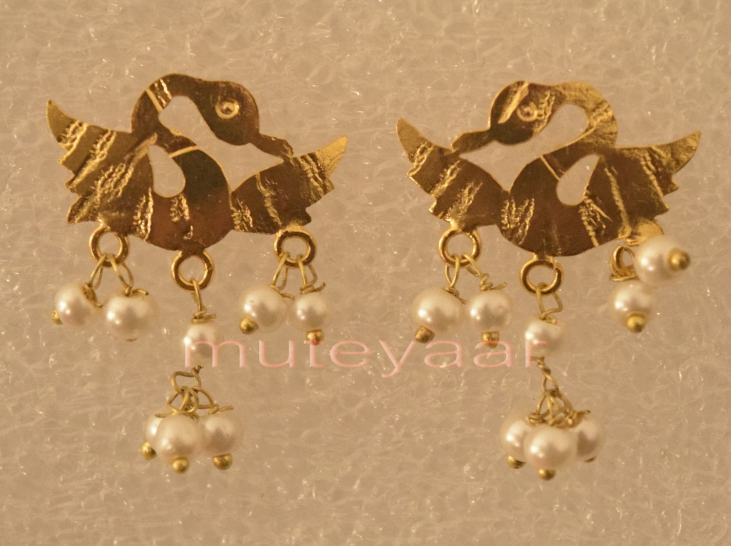 Hand Made Gold Plated Punjabi Traditional Jewellery Earrings Tops J0224 1