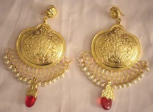 Hand Made Gold Plated Traditional Punjabi Jewellery Earrings Jhumka J0246
