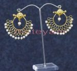 Hand Made Gold Plated Traditional Punjabi Jewellery Earrings Jhumka J0248