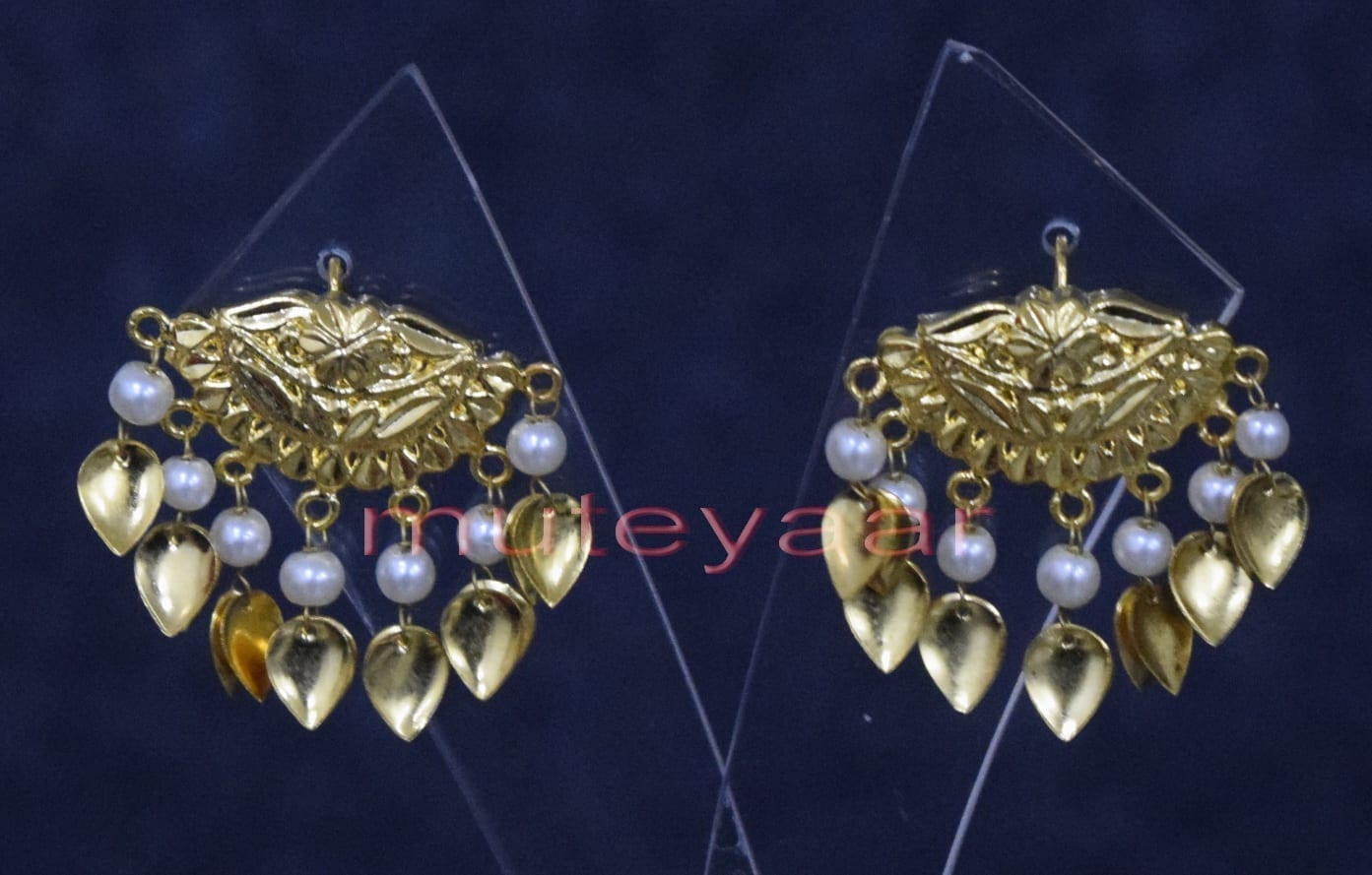 Hand Made Gold Plated Punjabi Traditional Jewellery Earrings Tops J0251 1