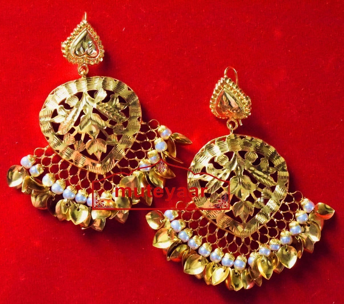 Hand Made 24 ct. Gold Plated Traditional Punjabi Jewellery Earrings Jhumka J0372 1