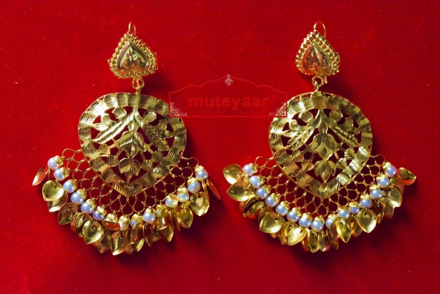 Hand Made 24 ct. Gold Plated Traditional Punjabi Jewellery Earrings Jhumka J0372 2