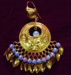 24 Ct. Gold Plated Traditional Punjabi Jewellery Earrings Tikka set Hand Made J0383
