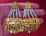 24 ct. Gold Plated  Handmade Traditional Punjabi Clip Design Earrings Jhumka J0384