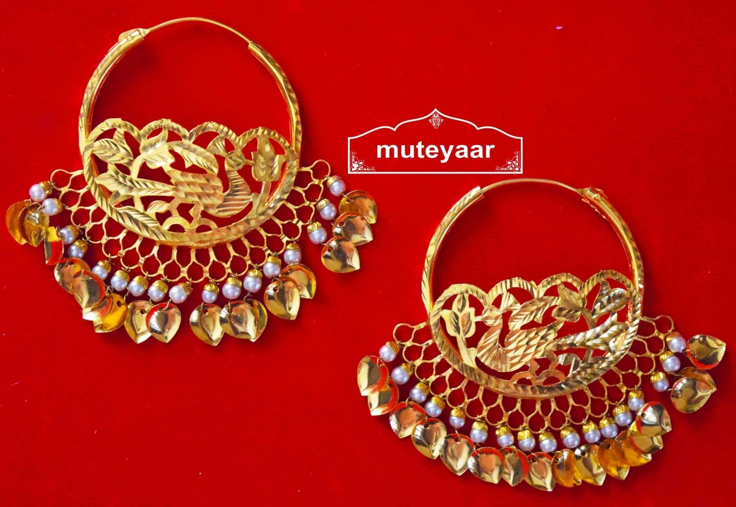 Morni Handmade Earrings 24 ct. Gold Plated Punjabi Traditional J0408 1