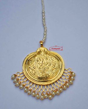 Gold Plated Traditional Punjabi Handmade  Tikka J0414