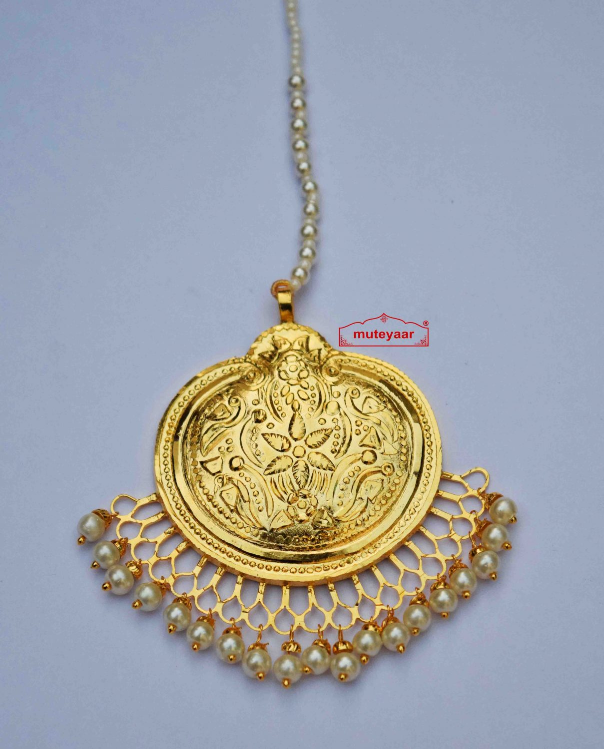 Gold Plated Traditional Punjabi Handmade  Tikka J0414 1