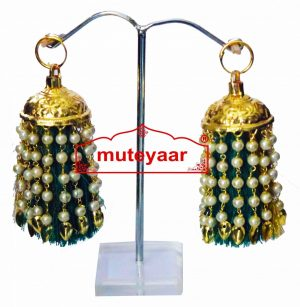 Jhallar Lotan Earring with Tassle phumans – All colours available J0464