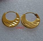 Small Unisex Golden Bali for Boys & Girls J0512 (Half Inch Diameter)
